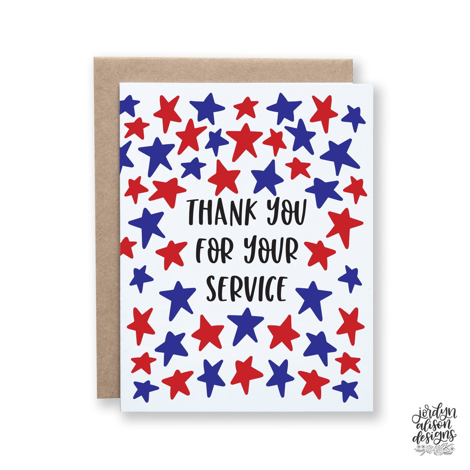 Thank you for your Service card Missing You Card Greeting Card