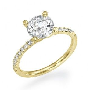 Cubic Zirconia Yellow Gold Rings Ringscladdagh