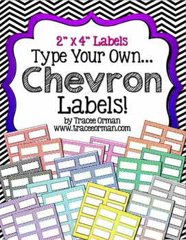 Labels Chevron Editable {2x4 Avery 5163} | Beginning of year