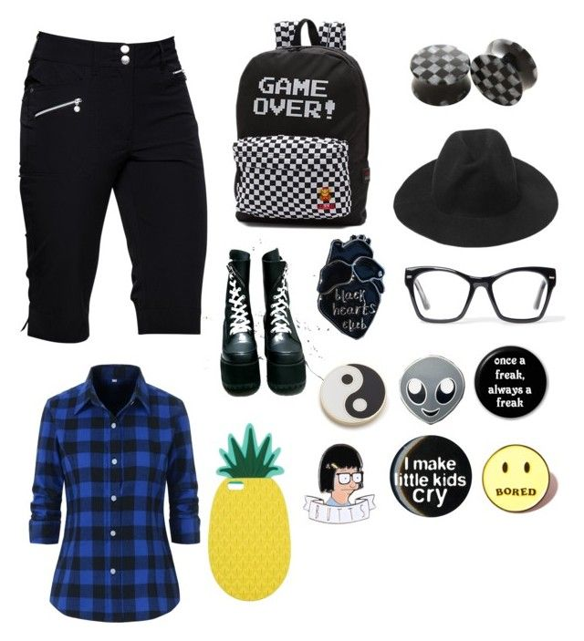 """""""Emo/gothic first day of school outfit"""" by theratchetdragon on Polyvore featuring Daily Sports, Vans, Current Mood, Spitfire, Local Heroes, PINTRILL, Georgia Perry and Miss Selfridge"""
