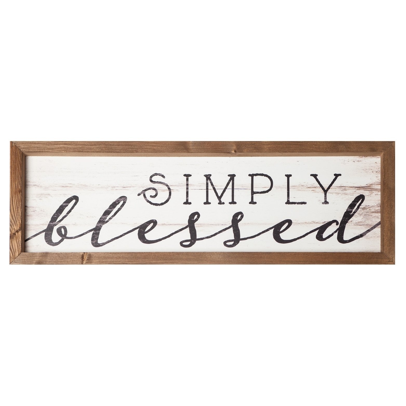 Simply Blessed Framed Art Assembled Wall Decor Brown Wood Wood Signs Sayings Barn Wood Projects Wood Diy