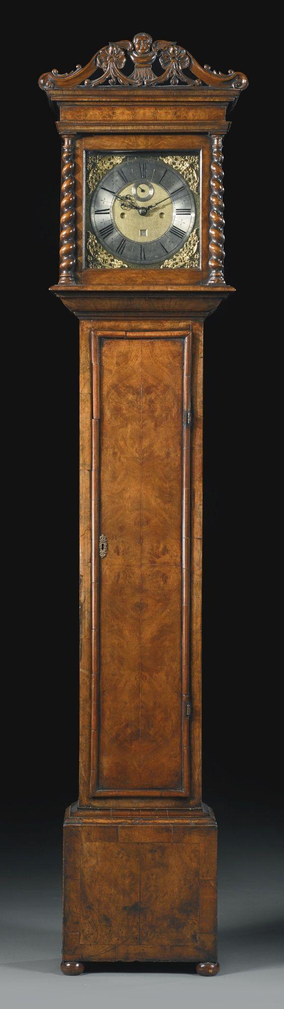 A William and Mary inlaid walnut longcase clock, Thomas Tompion<br>London, circa 1690   lot   Sotheby's