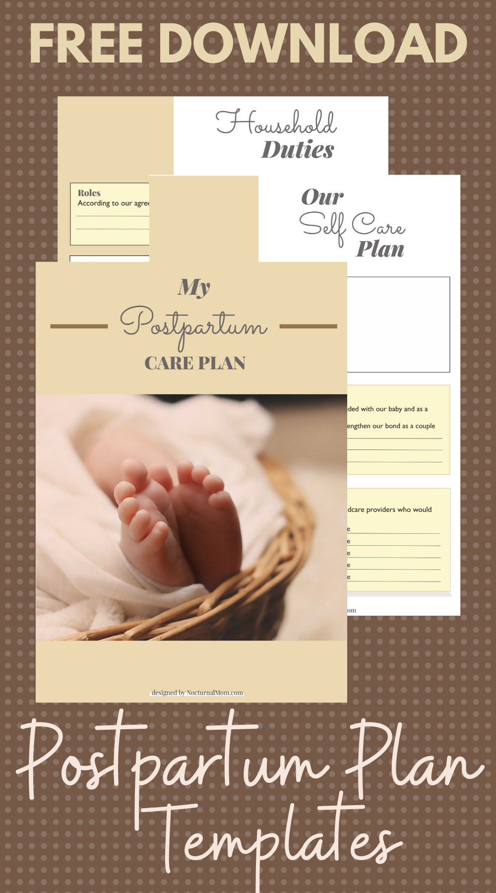 Free Download Postpartum Plan Templates How To Plan Postpartum Birth Recovery