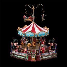 Carrousel de Noël lumineux et musical Jolie folie