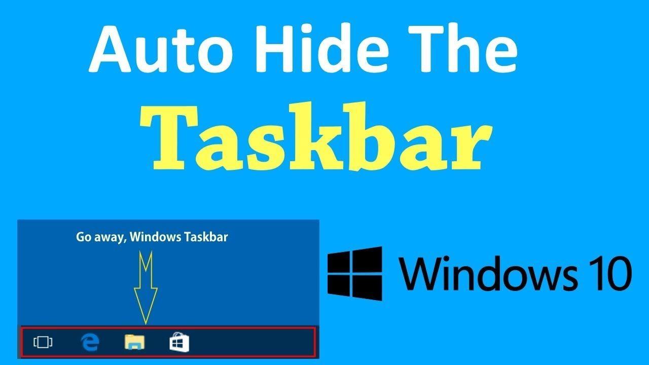 Auto Hide The Taskbar In Windows 10? | PCGUIDE4U | PCGUIDE4U