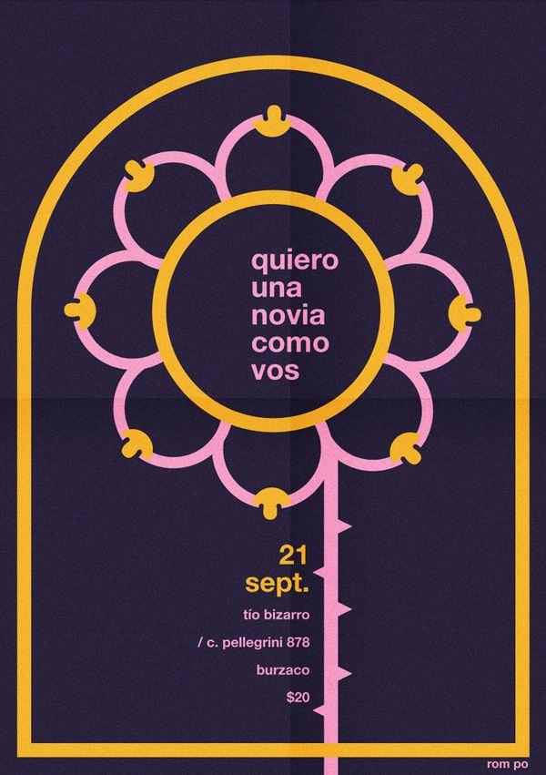 Poster Quiero una novia como vos by Max Rompo, via Behance Color