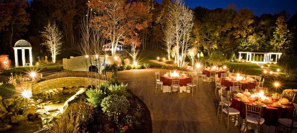 Pictures Of Night Time Beautiful Outdoor Table Settings