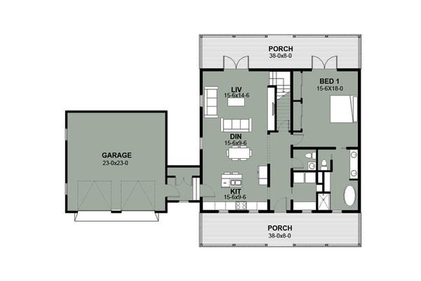Farmhouse Style House Plan - 3 Beds 35 Baths 2584 Sq/Ft Plan #497-8