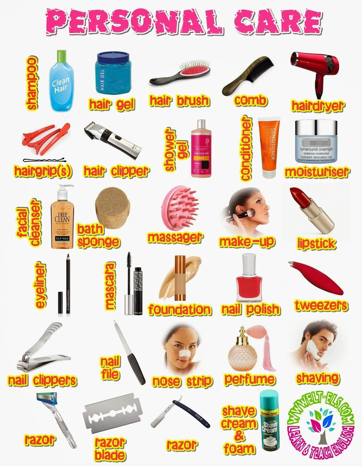 Personal Care Vocabulary