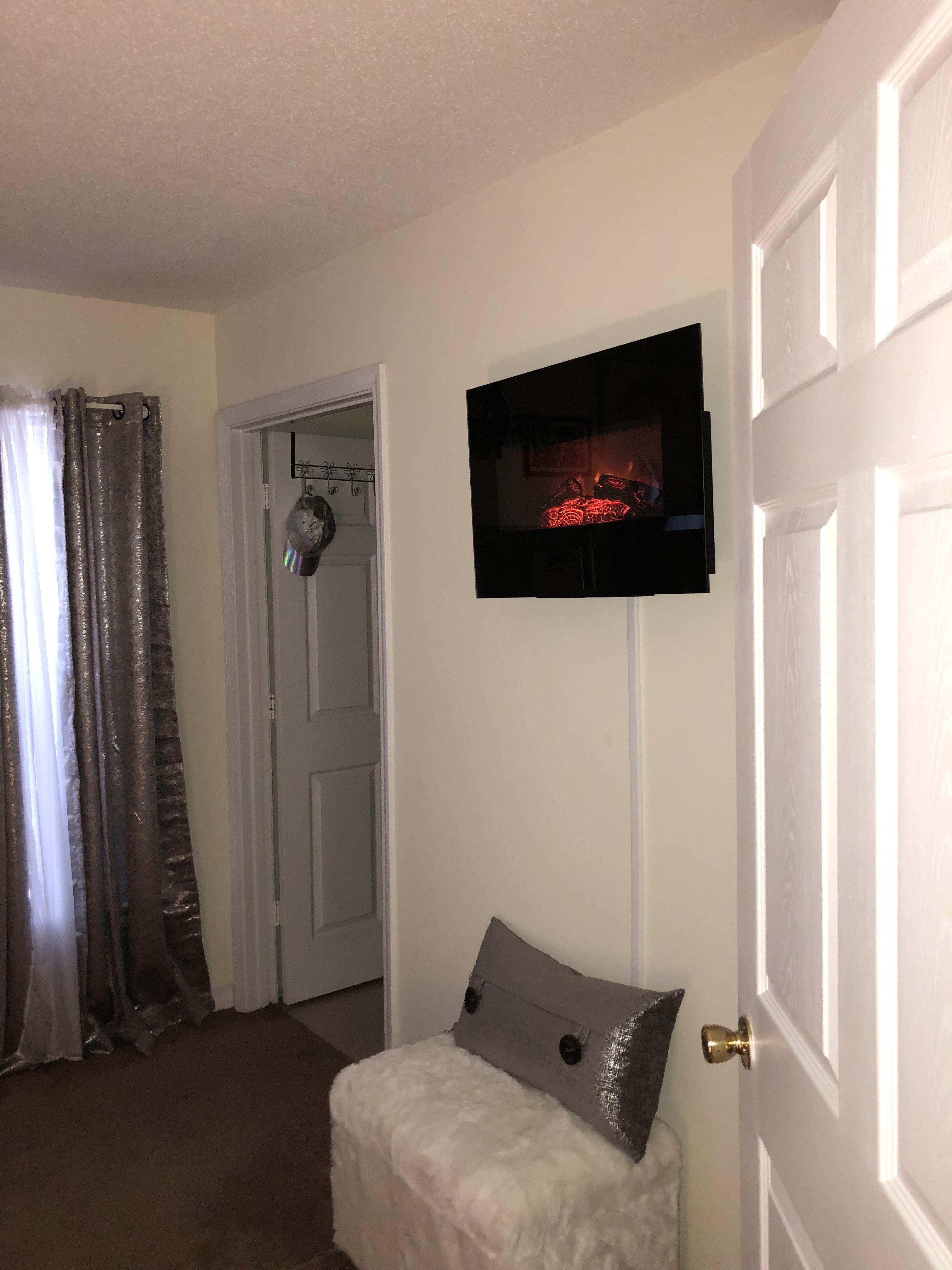 Wall fireplace!! Home, Room design, Room decor