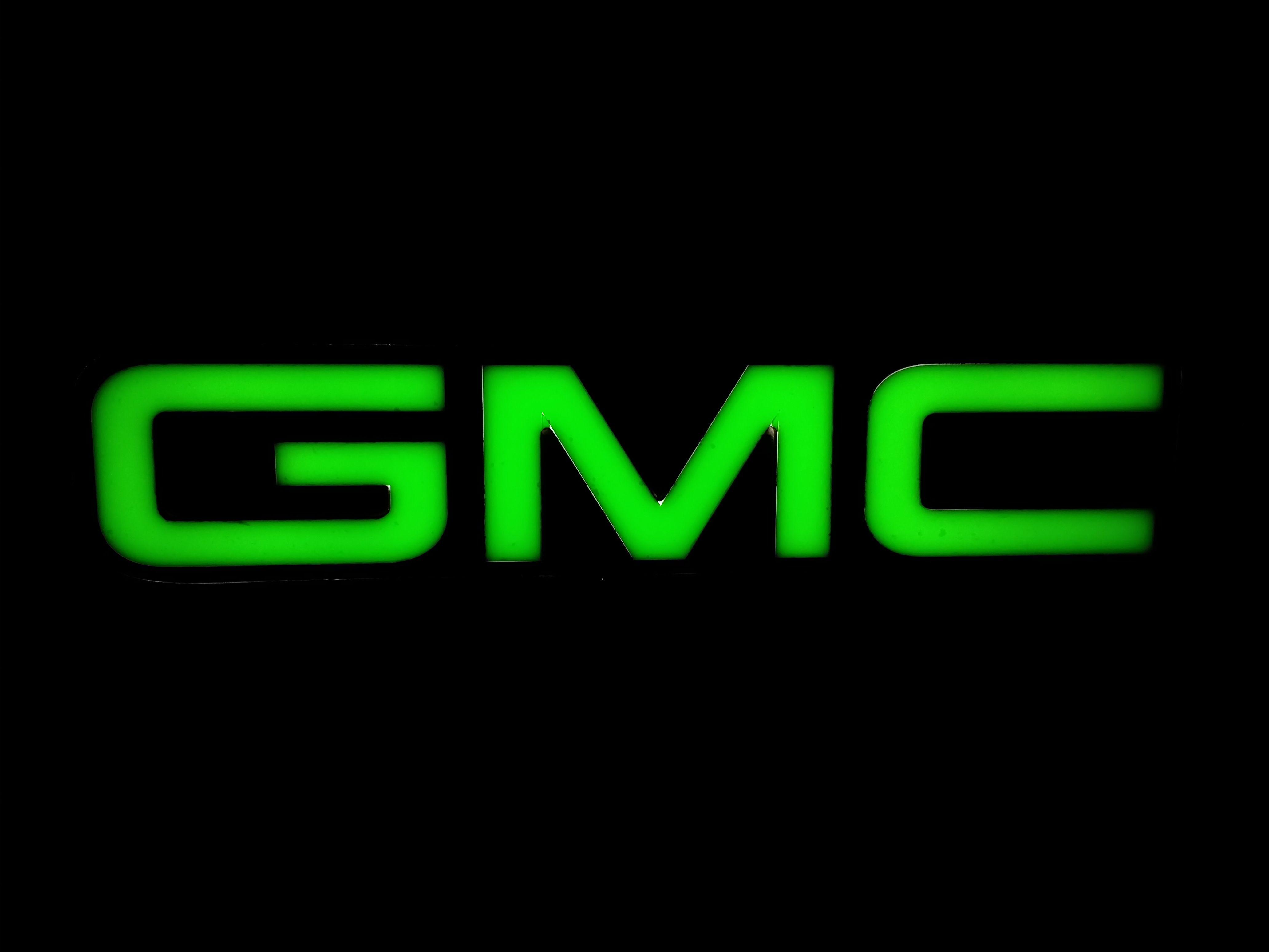 2017 Gmc Custom Lit Truck Logo Any Vehicle Make Any Model Any