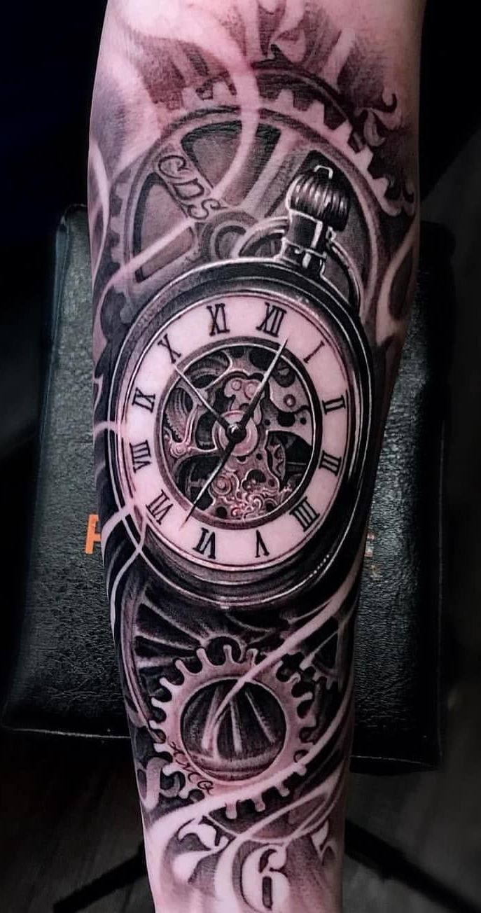 Pin De Patrick Mcguire En Tatuagens Masculinas Tatuaje Reloj De Bolsillo Reloj Para Tatuar Tatuaje Reloj Y Rosa