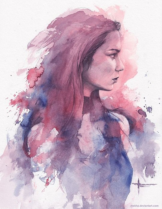 Beautiful Watercolor Paintings By Mekhz Watercolor Portraits