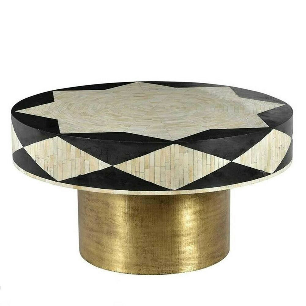 Wooden Bone Inlay Black Round Coffee Table And Centre Table Round Coffee Table Bone Inlay Handmade Coffee Table [ 1000 x 1000 Pixel ]