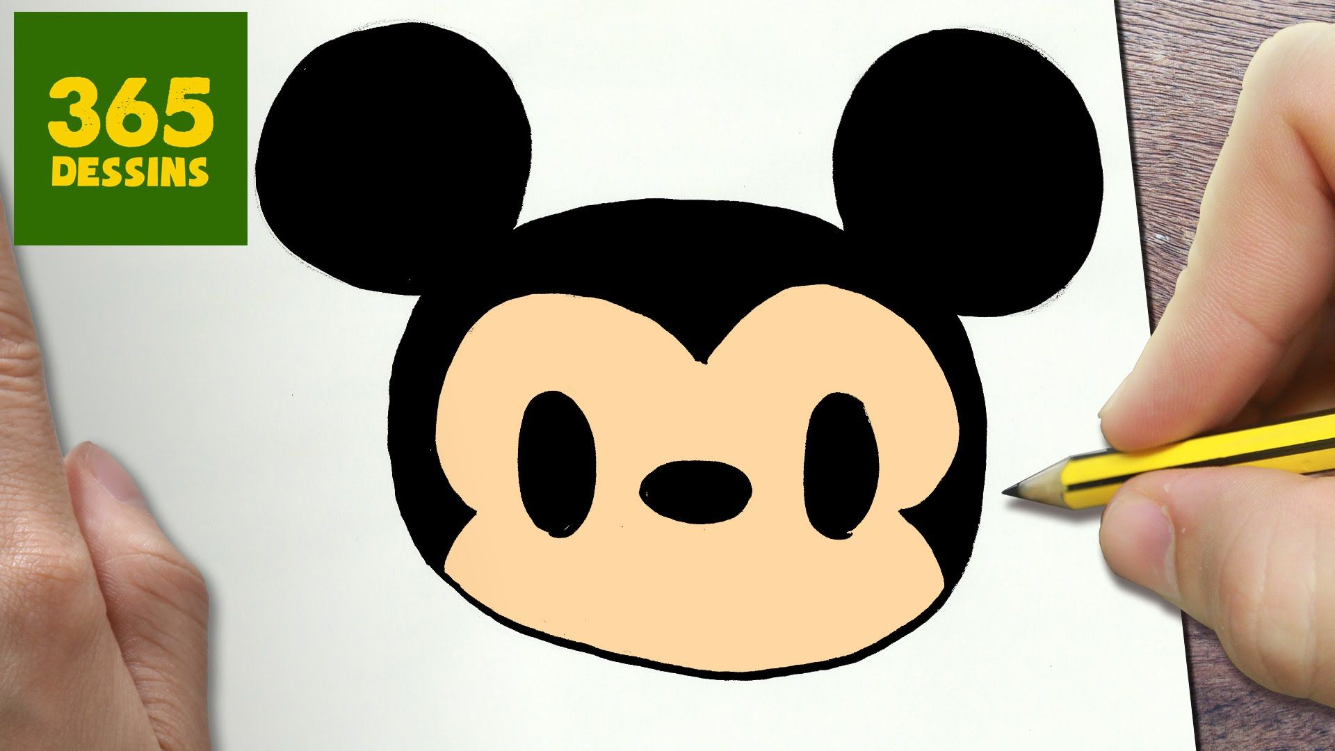 Comment Dessiner Mickey Mouse Kawaii étape Par étape