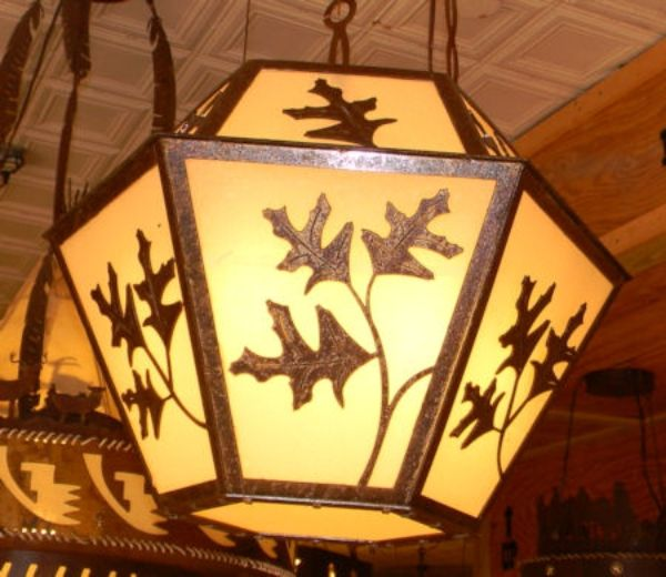 Cherokee Iron Works | Rustic & Western Lighting | Rustic & Western Chandeliers | Rustic & Western Home Decorations - Oak