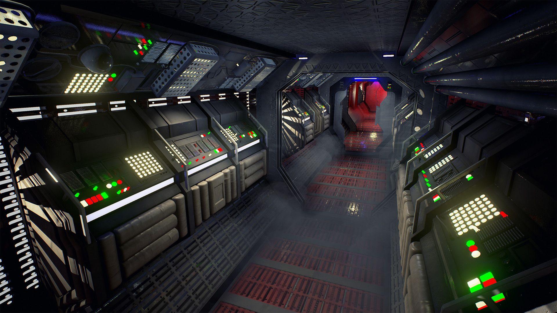 ArtStation - Sci-fi corridor based on Alien , Emiel Sleegers