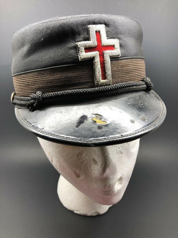b54b604b5 Vintage Knight Of Templar Masonic Hat Cap /The M.C. Lilley & Co ...