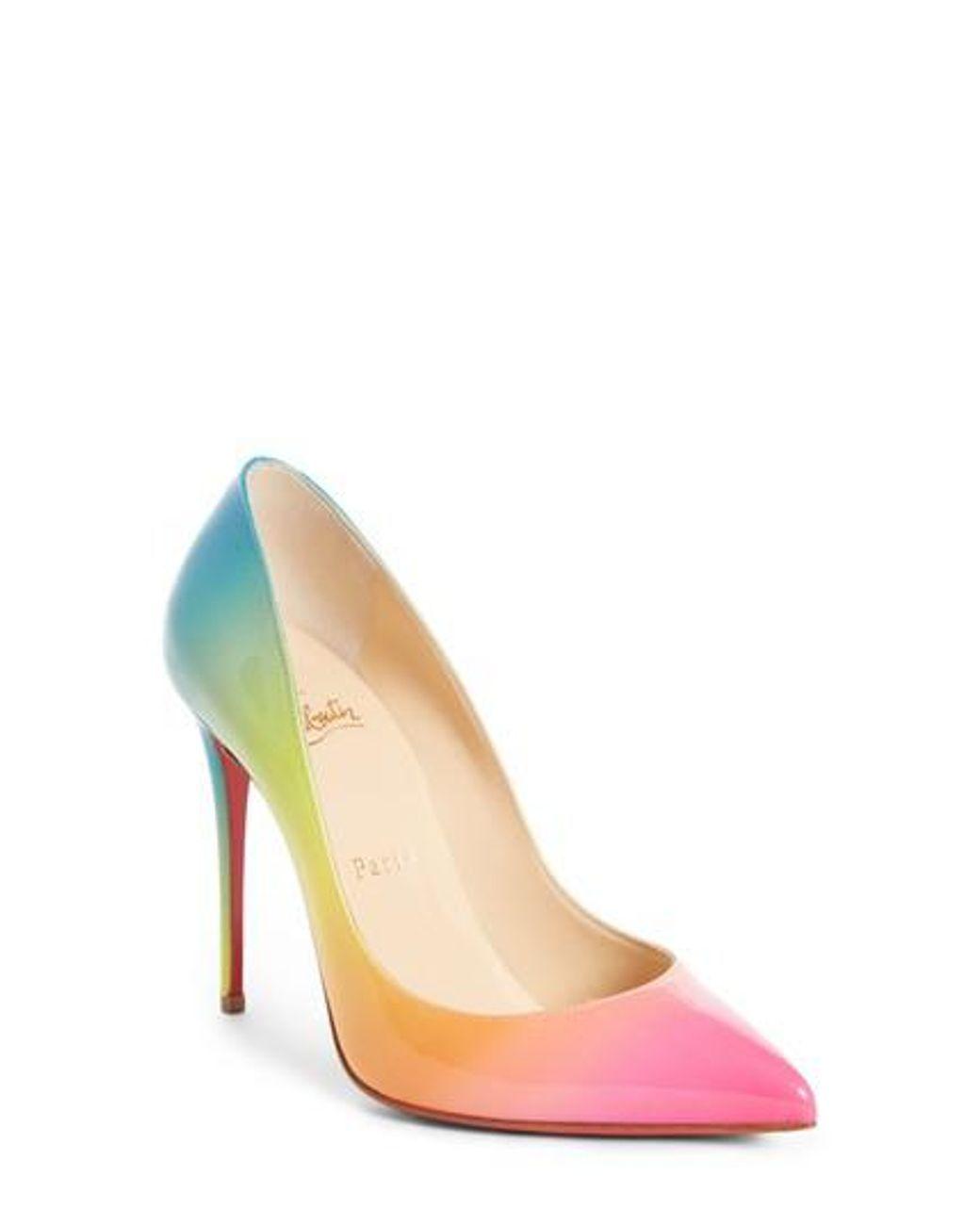 c0be5a45552 Christian Louboutin - Multicolor Rainbow Pigalle Follies Pump - Lyst ...