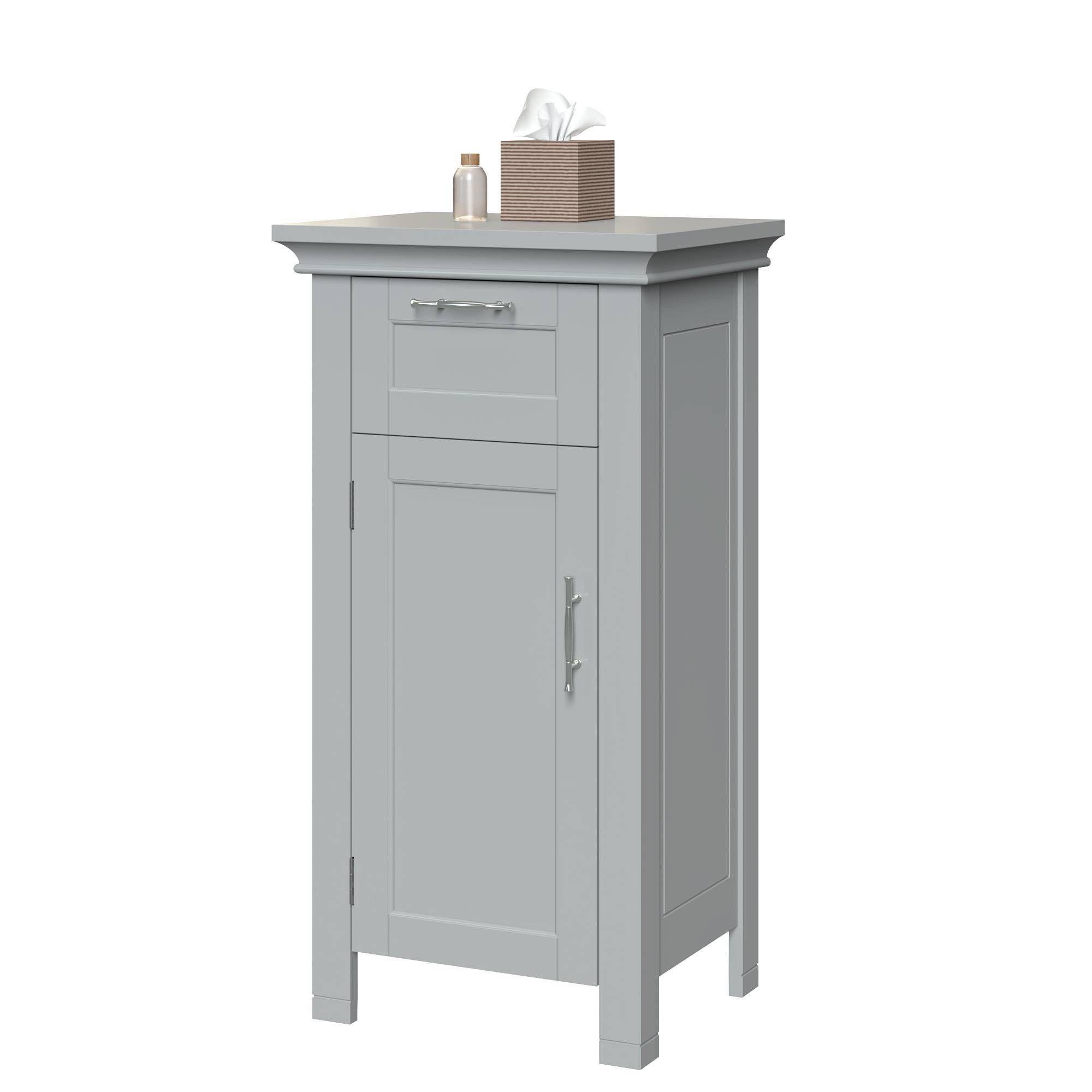 Bathroom Storage Cabinet Gray Riverridge White Bathroom
