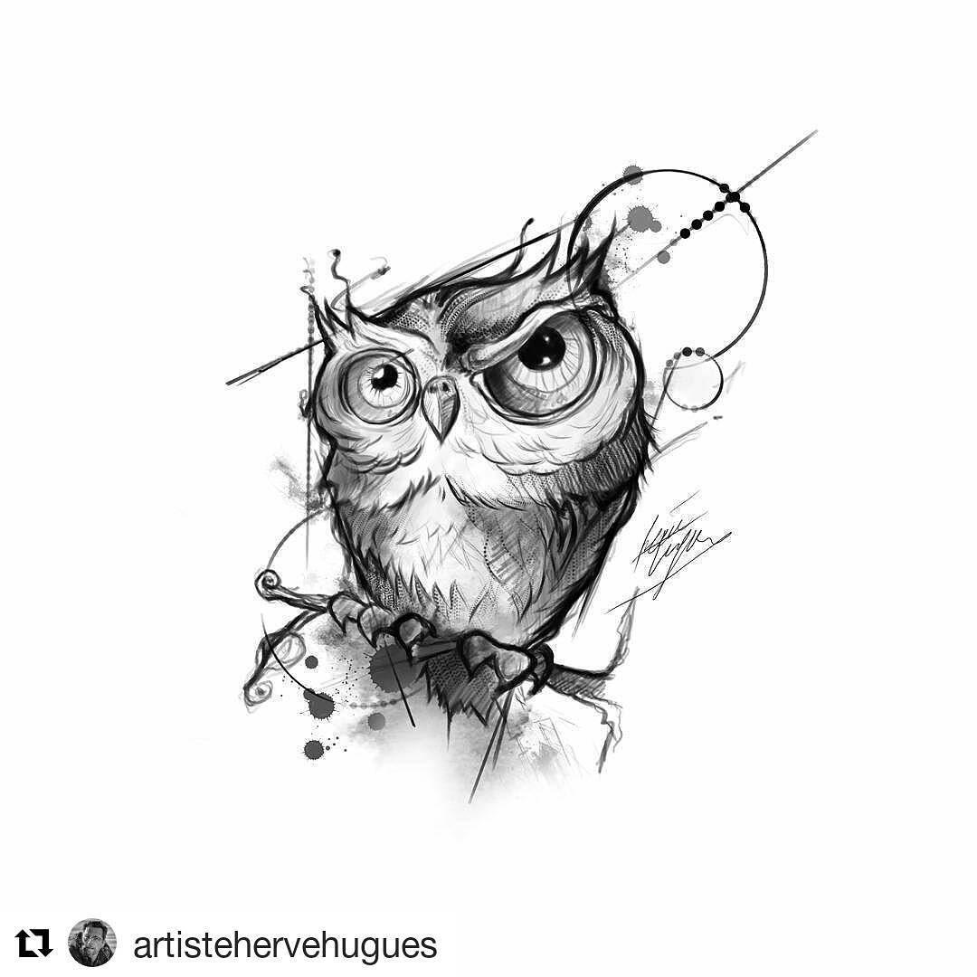 12 Me Gusta 2 Comentarios Pathy Moraes Patymoraes18 En Instagram Owl Owltattoo Repost Artistehervehugues Owls Drawing Owl Tattoo Drawings Owl Art