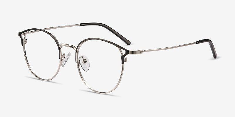 Jive Cat Eye Black Silver Frame Glasses For Women In 2020 Trending Glasses Frames Black Silver Eyeglasses For Women