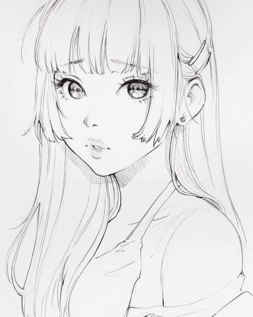 悲しい pencil sketch with some digital colours _