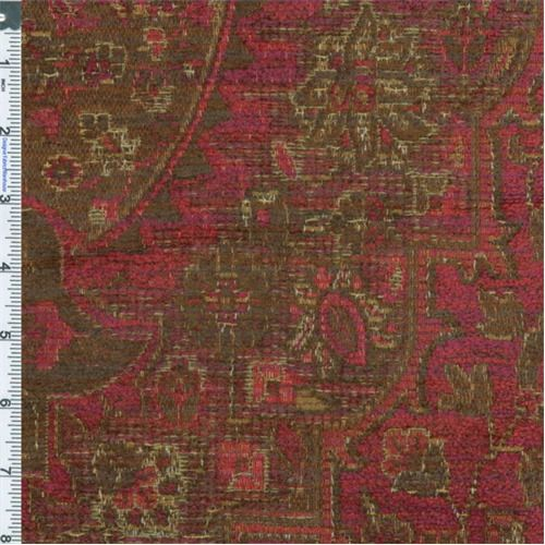 Oriental Red Chenille Tapestry Home Decorating Fabric, Fabric By The ...