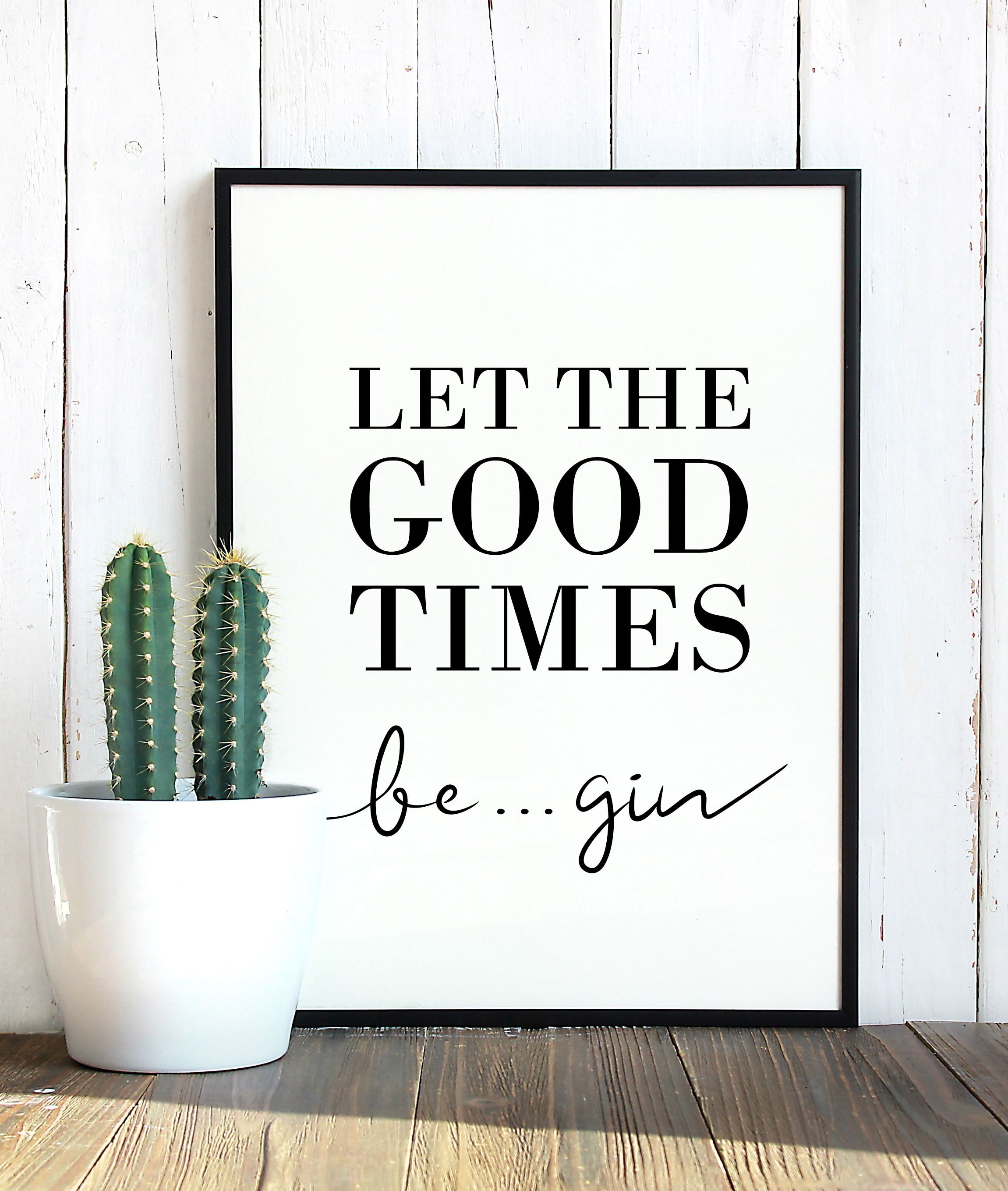 Photo of Gin – Let the good times begin poster
