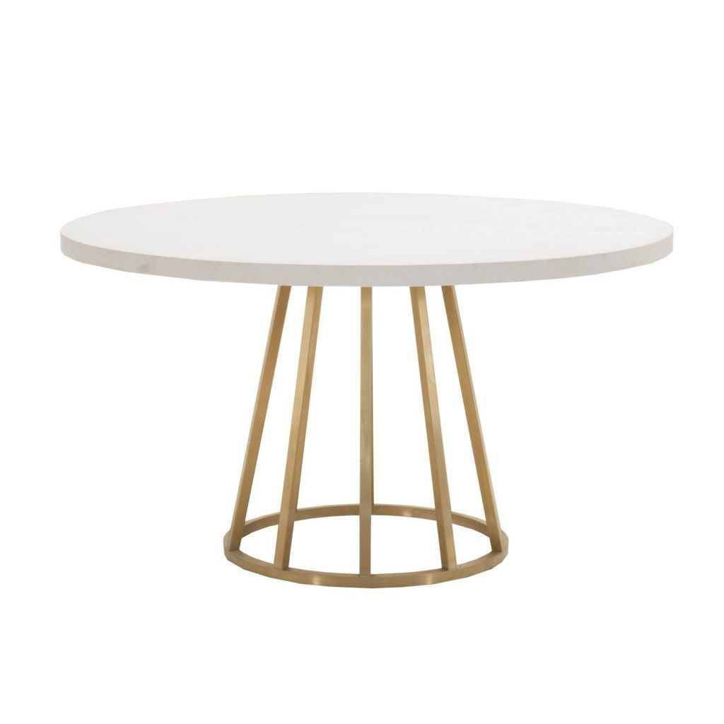 Atlas White Concrete Top Dining Table Shop Dining Tables 60