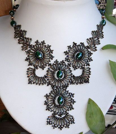 Collier Solstice Bugles Twist Miyuki Et Rocailles Necklaces Of All Fascinating Beaded Necklace Patterns