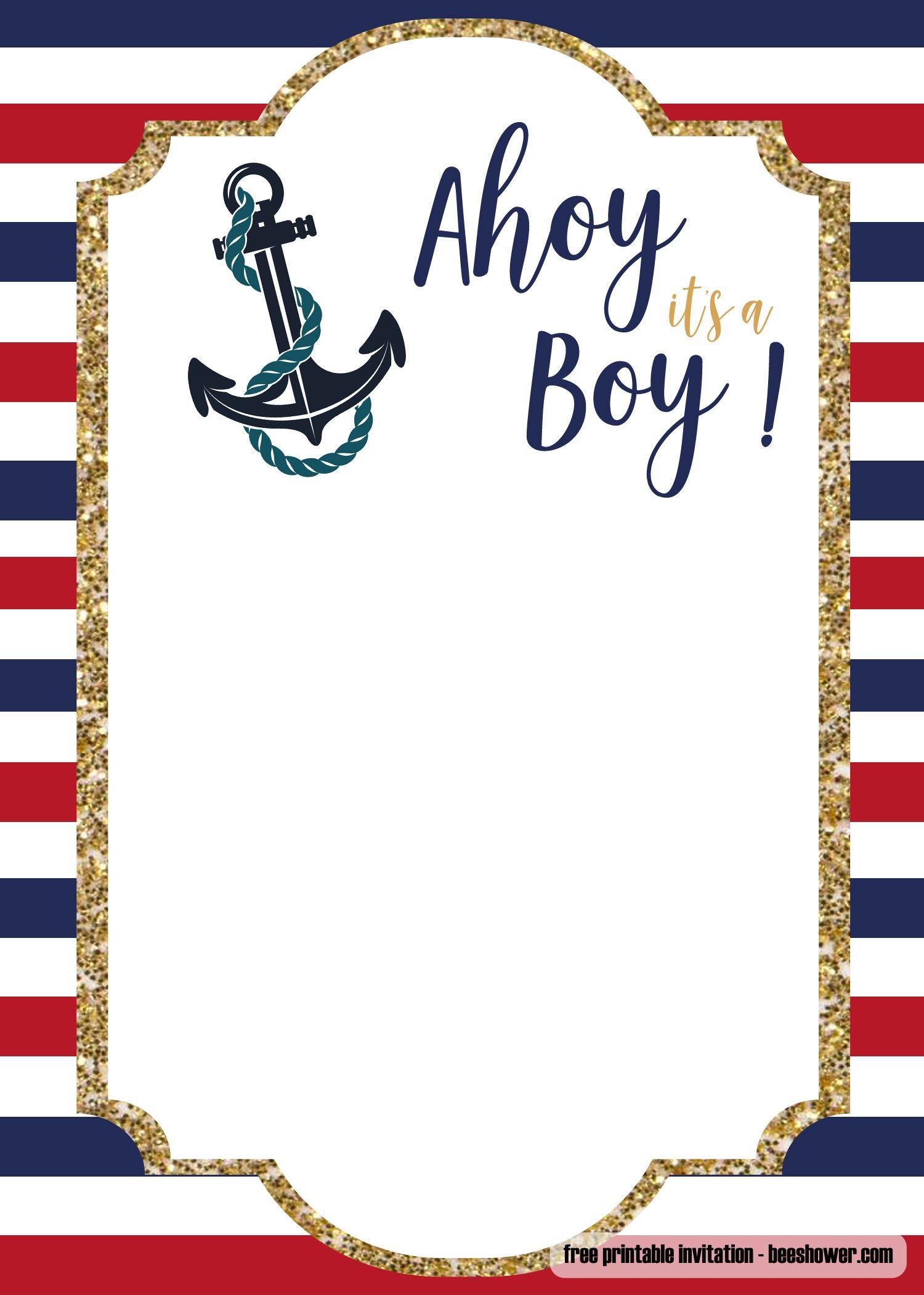 Free Nautical Baby Shower Invitations