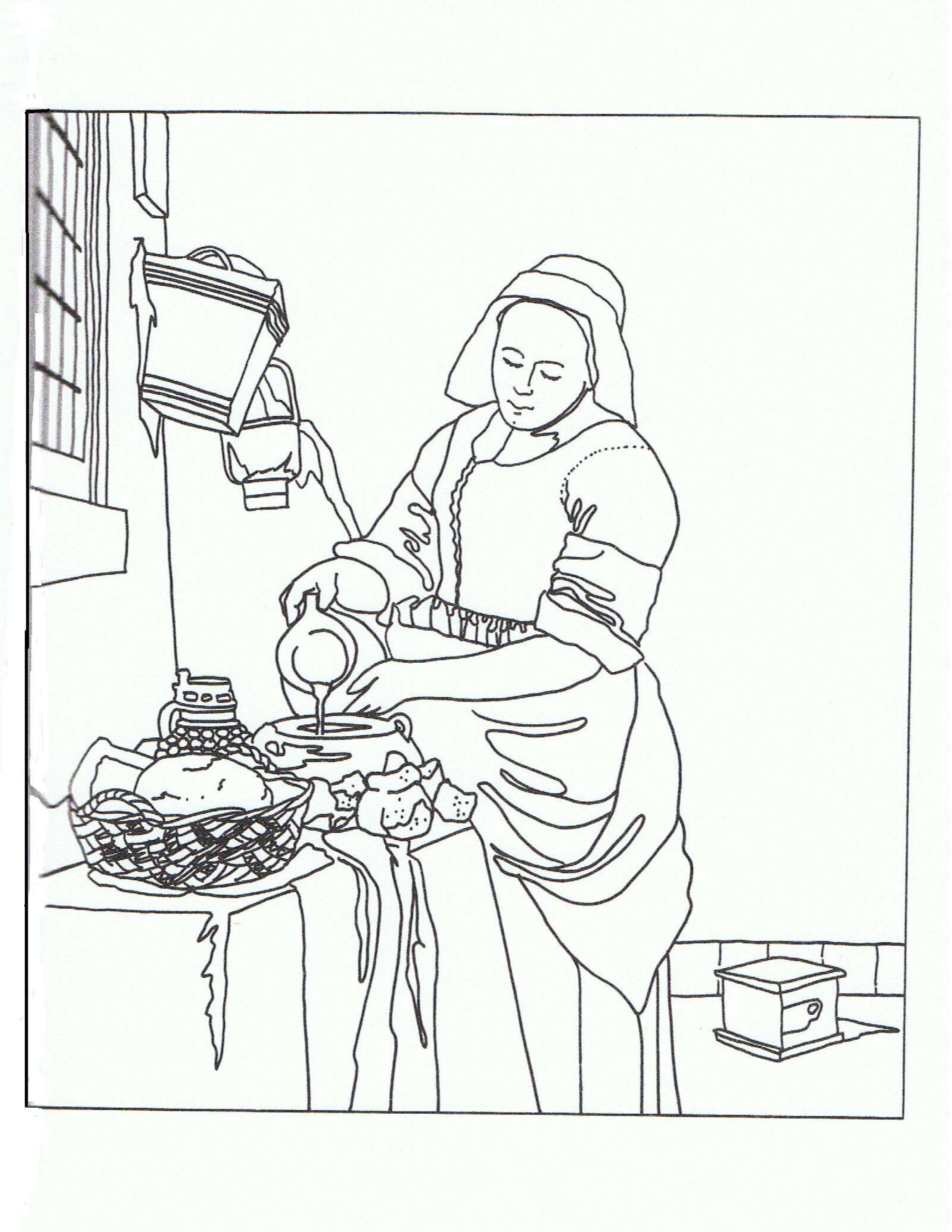 La lechera. Vermeer