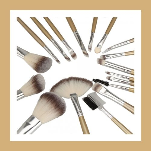 18PC Champagne Professional Make up brushes with Case. Starting at $15 on Tophatter.com!