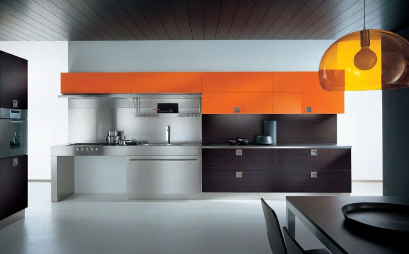 Grey Goes Well With Orange Accents Dark Or Black Wood Furniture