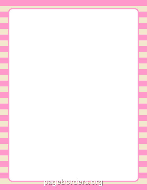 printable pink and cream striped border  use the border in