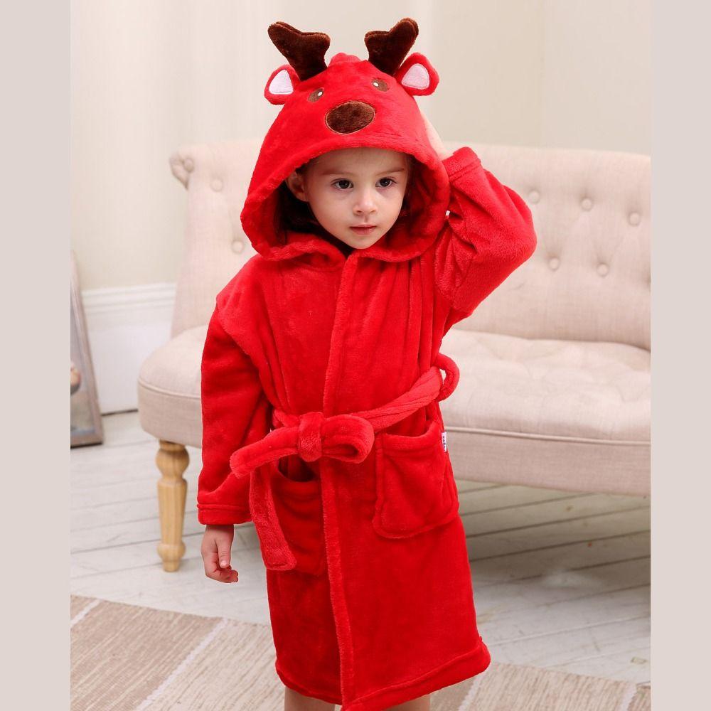 4520c8770e high quality children s bathrobe Retail! Baby pc 1 boy girl soft velvet  robe pajamas coral