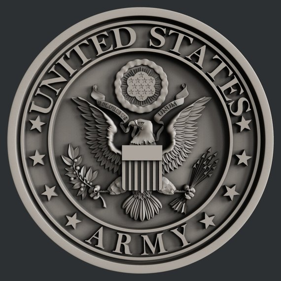 3d STL models for CNC USA Army Stl, Stl file format