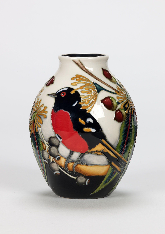 Moorcroft Pottery   moorcroft pottery design scarlet robin designer ...