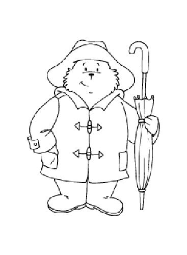 Beertje Paddington Animal Printables Coloring Pages Paddington