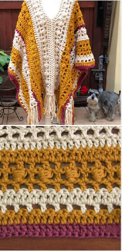 crochet chunky poncho | tejido | Pinterest | Ponchos, Tejido y Chal