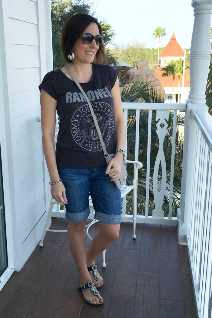 What To Wear To Disney World | Crossbody bags, Sandals and Shorts