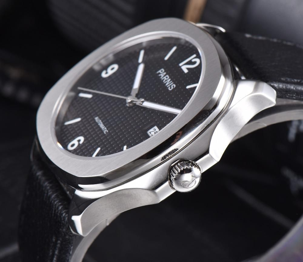 Parnis Aquatek Numeral Dial With Leather Or Silicon Bracelet In 2019