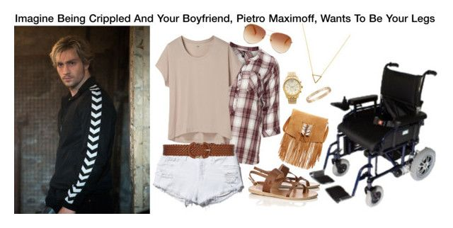 """""""Imagine Being Crippled And Your Boyfriend, Pietro Maximoff, Wants To Be Your Legs"""" by alyssaclair-winchester ❤ liked on Polyvore"""