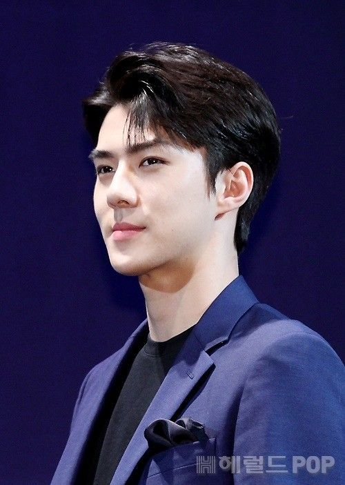 Sehun - 160608 Third Regular Album 'EX'ACT' comeback press conference Credit: Herald POP. (정규 3집 '이그잭트' 컴백 기자회견)