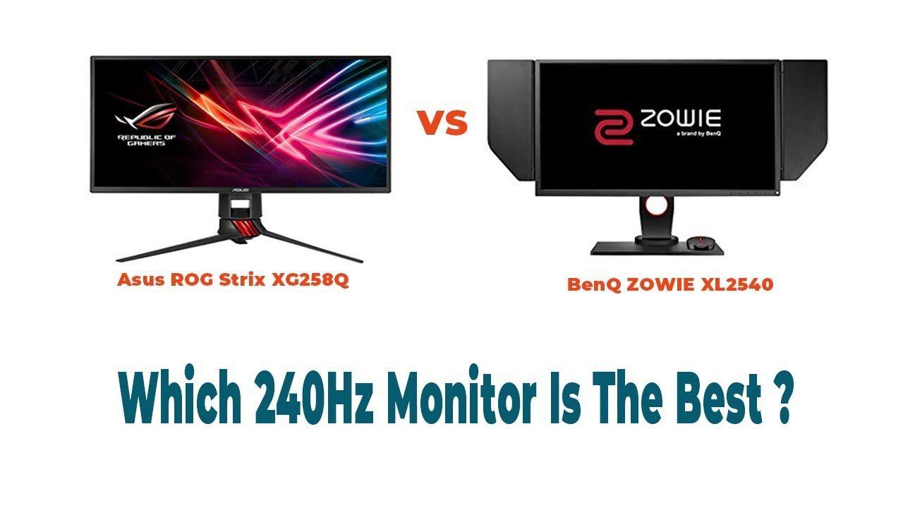 Asus XG258Q vs BenQ XL2540 Comparison Review || Which 240Hz