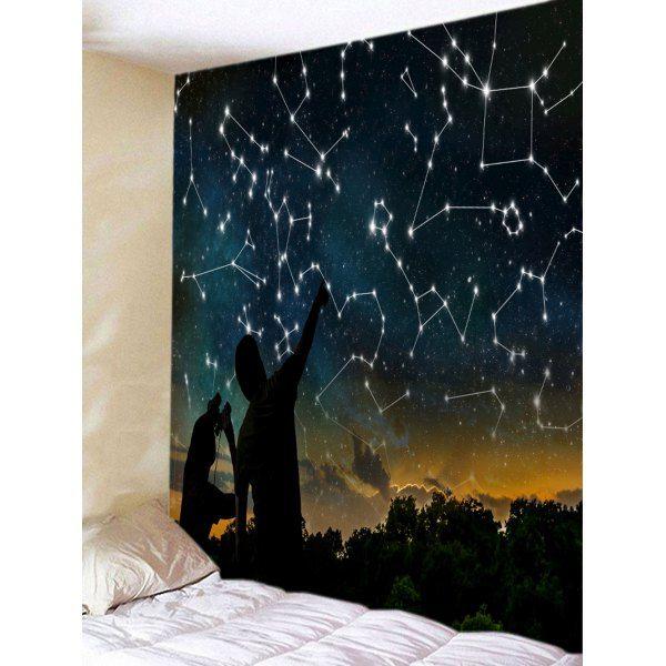 night sky stars constellations print tapestry black w79 on walls coveralls website id=79390