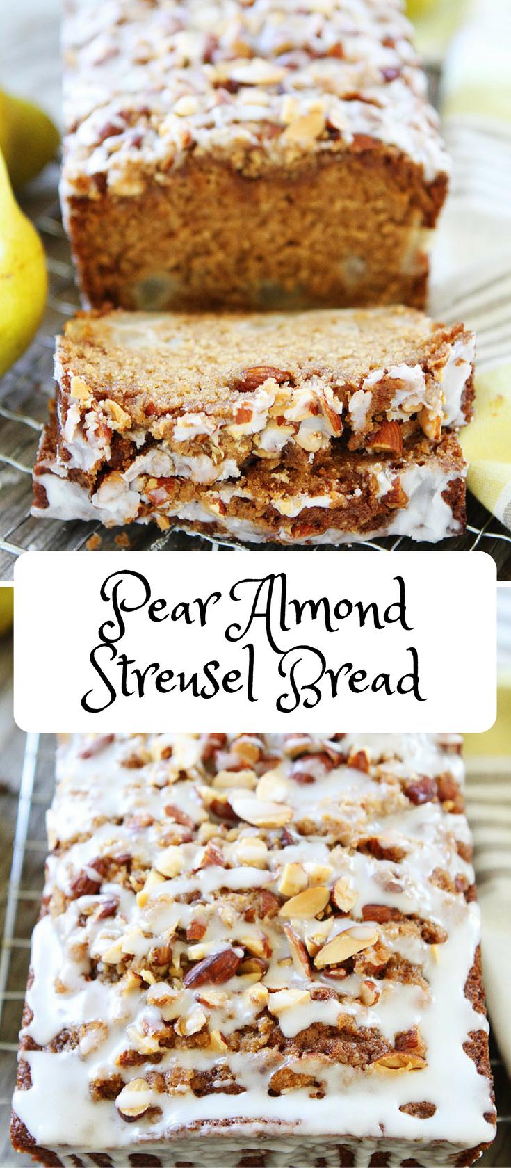 Pear Almond Streusel Bread Recipe Hugs Cookies Shared Board
