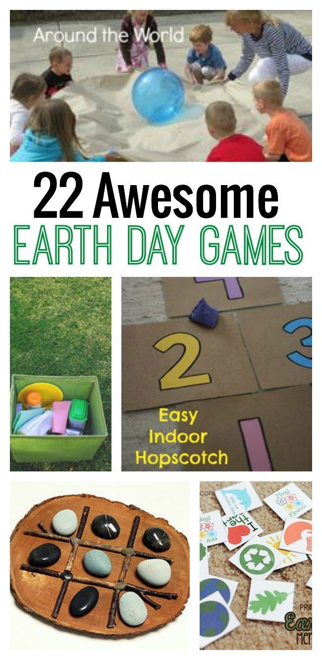 Looking for some fun ideas to celebrate Earth Day? Check out these 22 awesome Earth Day Games for kids. #10 will get your kids moving!