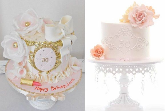 30th birthday cakes by Dees Sweet Surprises left Sweet Love